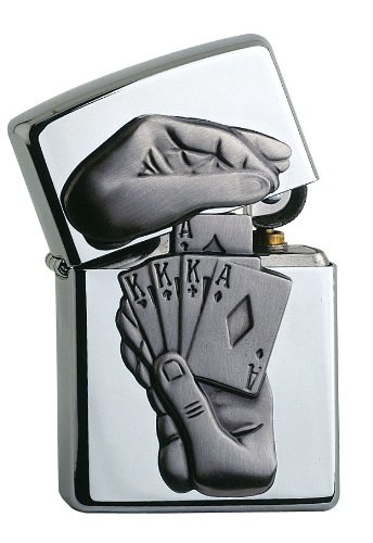 zippo-unisex-adult-surprise-trick-emblem-lighter-windproof-pocket-lighter-chrome