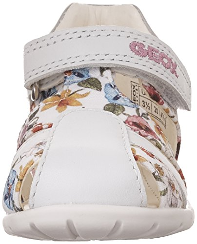 Geox B Kaytan D, Chaussures Marche Bébé Fille Blanc (WHITEC1000)