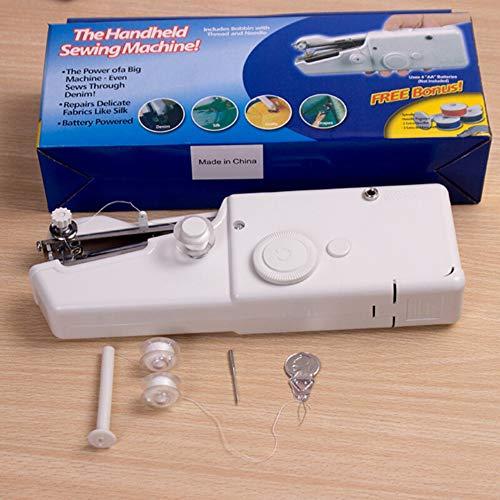 Mini tragbare nähmaschine, kleine handheld elektrische schnurlose stich haushaltsreparatur tool kit für schnelle reparaturen diy zu hause reisen verwenden (batterie nicht enthalten) (Nähmaschinen-reparatur-kit)