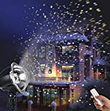 LED Projektionslampe, Weihnachtsprojektor Lichter Projektions Lampe mit Fernbedienung Schneefall-Lichteffekt Stimmungsbeleuchtung Beleuchtung für Weihnachten Party Geburstag Hochzeit