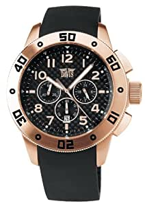 Davis 'XXL Ranger' Men's Analog Quartz with Chronograph and Rubber Bracelet - 1352