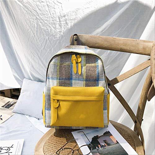 LINADEBAO Hohe Qualität Leinwand Rucksäcke Multifunktionale Frauen Rucksack Schultaschen für Mädchen Schultasche Rucksack Rucksack gelb - Pegasus 30 Nike Frauen