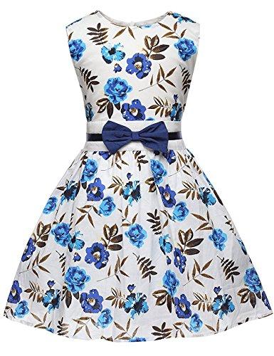 Tkria Kleine Mädchen Kleid Für Kinder Party Hochzeit Sommer Kleider Sundress Pageant 2-7 (Sari Kostüm Indischen Kindes)