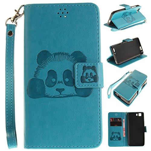 Guran® PU Leder Tasche Etui für Doogee X5 / X5 Pro / X5S Smartphone Flip Cover Stand Hülle und Karte Slot Case-blau