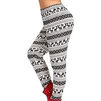 Ansenesna Mujer Pantalones Tallas Grandes Elasticos Invierno Tallas Grandes Cintura Media ImpresióN De Navidad Pantalones Deportivos EláSticos