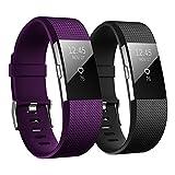 Hanlesi Fitbit Charge 2 Correa, TPU Silicona Pulsera Ajustable Banda de Accesorio Correa de Deporte para Fitbit Charge 2 Fitness Wristband