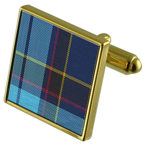 tartan-us-air-force-pipe-band-gemelos-de-oro-en-caso-personalizado-grabado