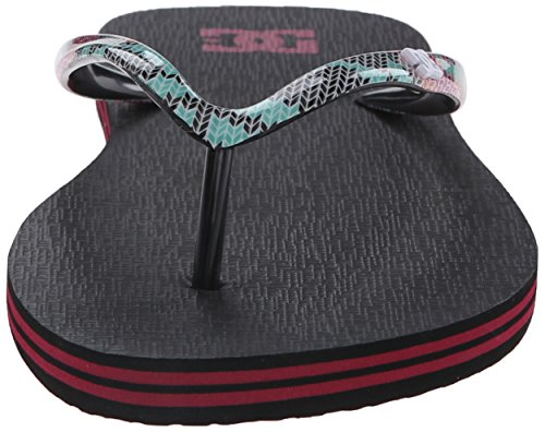 DC Shoes Spray Se, Infradito Donna Nero multicolore