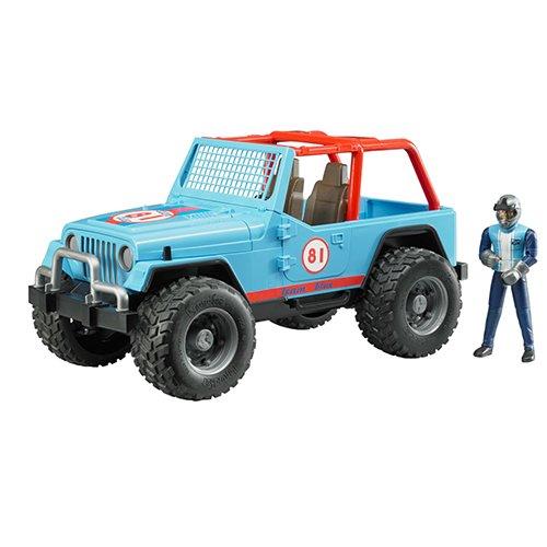 bruder-02541-jeep-cross-country-race-con-pilota-blu