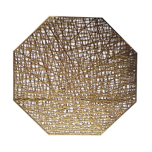 OIYINM77 Kreative achteckige Form aushöhlen solide rutschfeste Untersetzer für westliche Essensmatten Meeresfrüchtebestecksets