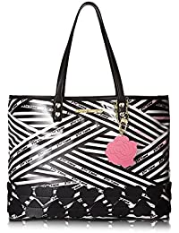 Betsey Johnson Womens 2-in-1 East/West Tote