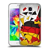 Head Case Designs Deutschland Fussball Glassplitter Soft Gel Hülle für Samsung Galaxy S5 Mini