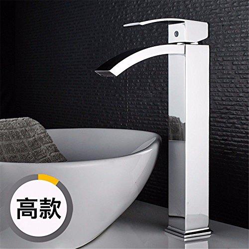 YSRBath Moderne Waschbecken Waschtischarmatur Antike Alle Kupfer Einloch Wasserfall Heiß und Kalt Mischbatterie Bad Küche Wasserhahn Badarmatur