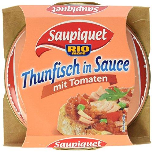 Saupiquet Thunfisch in Sauce mit Tomaten, 9er Pack (9 x 160 g)