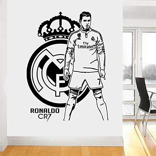 zqyjhkou Accessoires de décoration pour la Maison Cristiano Ronaldo Vinyle Mur Art Autocollant Decal Footballeur Mural Cr7 Garçons Salle Living Decor D673 58 x 43 cm