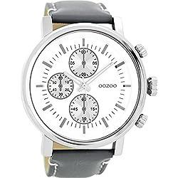 OOZOO Timepieces Grijs/Wit Horloge C8566