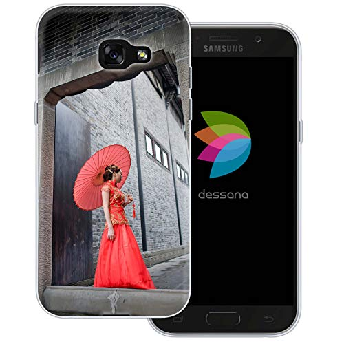 dessana China Metropole Transparente Schutzhülle Handy Case Cover Tasche für Samsung Galaxy A5 (2017) Cheongsam ()