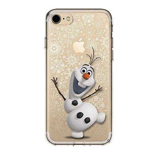 IP7 / IP8 COVER TPU GEL TRASPARENTE morbida Custodia protettiva, Cartoon, Disney Special Collection, Frozen OLAF, iPhone 7, iPhone 8