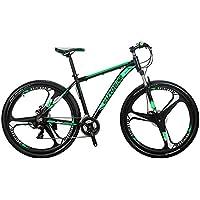 Bicicleta de montaña de Eurobike X9 con 21 velocidades, pata de cabra de 73,