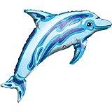 Ballon XXL Folienballon Luftballon - Delfin Delphin Blau Junge Tierballon - Geburtstag Kindergeburtstag Deko - geeignet