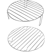 Andrew James Halogen Oven Racks | Set of 2 Including High & Low Rack | 25cm Diameter for 10-12 Litre Ovens