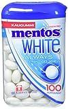 Mentos White Kaugummi, 1 Dose à 100 Stück, Pfefferminz Geschmack, zuckerfreie Zahnpflege