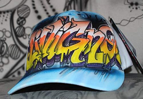 Graffiti Style Flex Fit Cap mit eigenem Namen -