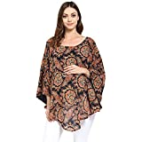 Wobbly Walk WWNC7019 2-in-1 Poncho for Maternity and Nursing, Multicolor