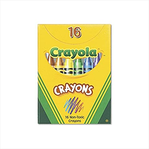 Classic Color Pack Crayons, Tuck Box, 16 Colors/Box, Sold as 1 Box
