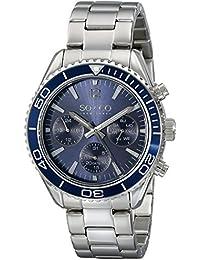 SO & CO New York 5026.2 - Reloj de cuarzo para hombres, plateado