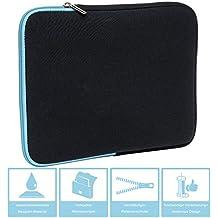 Slabo Tablet Tasche Schutzhülle für Tolino Vision 1 / 2 / 3 / 4 HD Hülle Etui Case Phablet aus Neopren – TÜRKIS / SCHWARZ