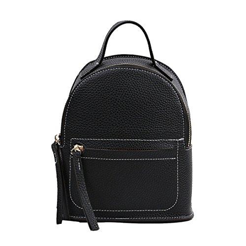 Yy.f Mini Sacchetto Di Spalla Preppy Casual Bag Marea Selvaggio Borsa Semplice Piccolo Zaino Tracolla Diagonale Portatile Multi-colore Black