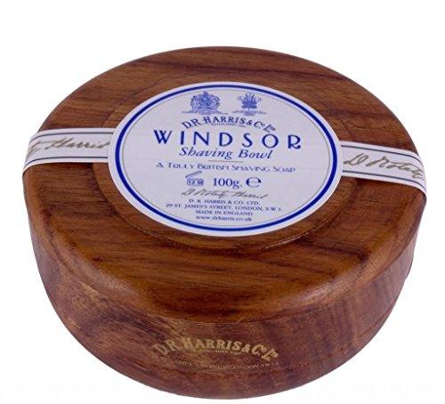 DR Harris Windsor Savon de rasage Bol effet acajou + savon