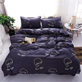 Best Mandala Crafts Friend Matchings - Bedding Set Polyester cotton Navy Blue Whale Design Review