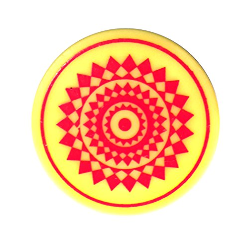 Indiavibes Carrom Board Striker Plastic Color With Design (Red)  available at amazon for Rs.199