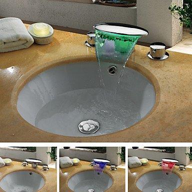LAF Contemporain Couleur Finition chromée chute d'eau Changement de LED Robinet lavabo