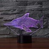 Espadon lumière 3D éclairage LEDUSB humeur nuit lumière multicolore tactile interrupteur 3D lampe de table maison chambre décoration