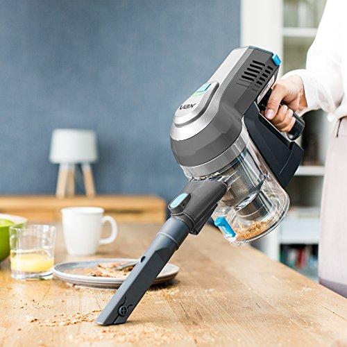 51Js%2BZAFSlL. SS500  - Vax Cordless SlimVac Vacuum Cleaner, 0.6 Litre, 18 V, 130 W, Silver/Blue