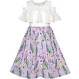 Best Robes filles en mousseline de soie fleurs - Sunny Fashion Robe Fille Mousseline de soie Tulipe Review
