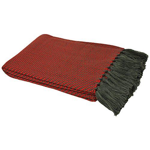 Sherpa Winter Liner (Riva Home Pebble Überwurf (140x180cm) (Rot))