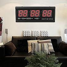 SHIOUCY Reloj de pared LED de 3 pulgadas, 24 horas de visualización para despacho,