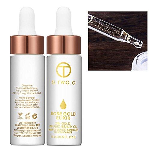 Thinkmax Make-up haut Care 24K Rose Gold Folie Facial Whitening Moisturizer ätherisches Öl für alle Hauttypen