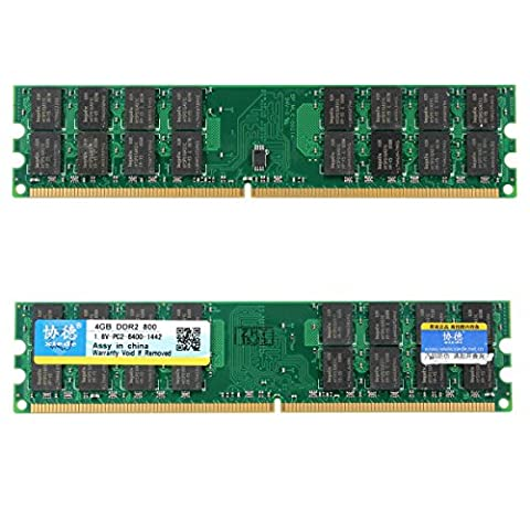 Memoire RAM - Xiede 2x4GB DDR2 800Mhz PC2-6400 240 Pin Memoire RAM AMD s de l'ordinateur