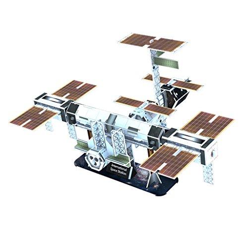 Baoblaze DIY 3D Papier Modell Papiermodell Architektur Basteln Modell Spielzeug Set - Raumstation (Papier Modell Autos)