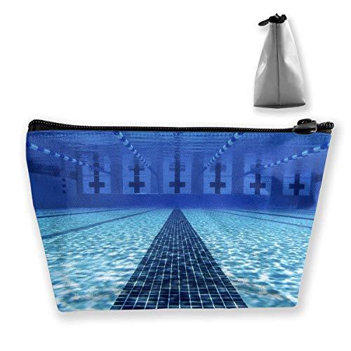 Mode Large Wallet (Trapez Reise Make-up Taschen Kulturbeutel Tragbare Stiftetui Fall Swimming Pool Zipper Wallet)
