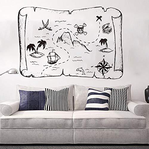 Big Mandala Elephant Pattern Wandtattoo Kinderzimmer Schlafzimmer Jungle Elephant Animal Wandaufkleber Kinderzimmer Vinyl Dekoration ~ 1 56 * 40 cm -