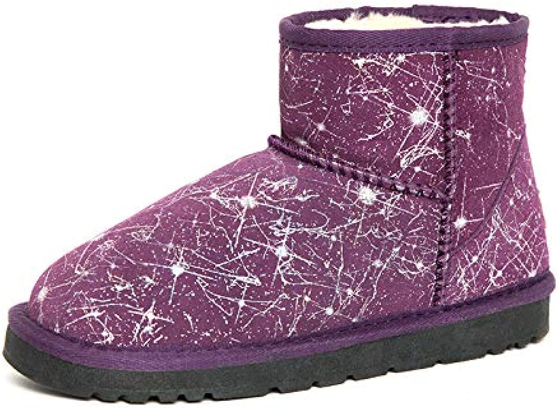 BYUYAN Boots Bottes De Neige Femme Court Et Épais Antidérapant Télévision Chaud Télévision Antidérapant Automne Hiver Bottes Courtes Chaussures...B07JVVRX5SParent 82d231