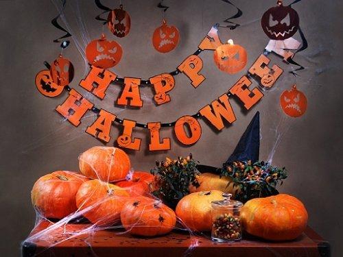 Halloween Girlande Happy Halloween ca. 210 cm lang Girlanden (Halloween Banner Happy)