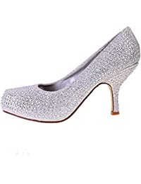 truffle dia te sparkle kitten heel evening bridal court shoes