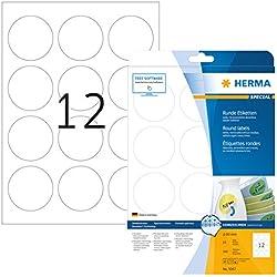 Herma 5067 - Pack de 300 etiquetas, diámetro 60 mm, color blanco